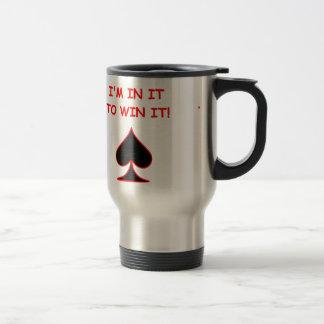 card players joke travel mug