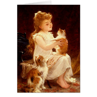 Card: Playing with the Kitten