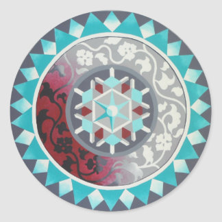 Card/ postcard Michelle Andrews Classic Round Sticker