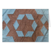 Card - Quilt pattern - Castle Greeting Card