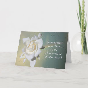 Card, Remembering Your Mum On Death Anniversary Card
