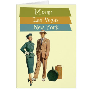 Card Retirement Dream Travel Vacationing Retro