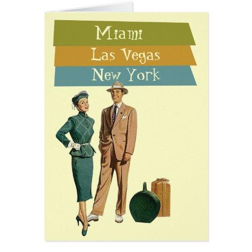Card Retirement Dream Travel Vacationing Retro
