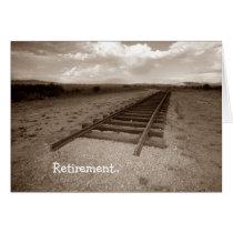 Card Retirement Railroad Fun end of the tracks!
