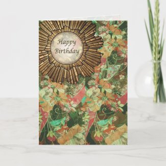 Card | Retro / Art Deco Birthday Day Card