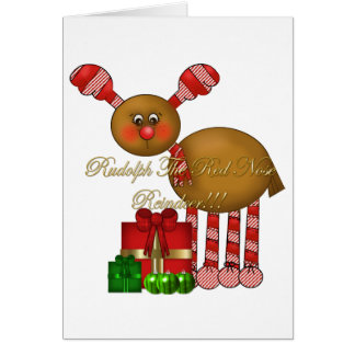 Card-Rudolph the Red Nose Reindeer Card