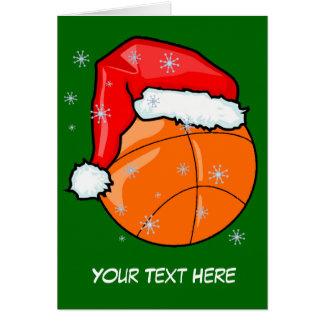 Card - Santa Basketball