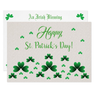 Card - Shamrocks & Irish Blessing