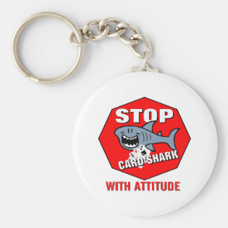 Card Shark With Attitude Keychain