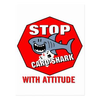 Card Shark With Attitude Post Card