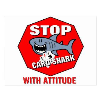 Card Shark With Attitude Postcard