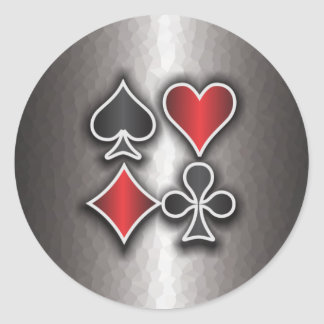 Card Sharp 3 Classic Round Sticker