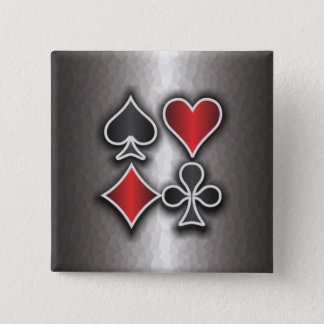 Card Sharp 3 Pinback Button