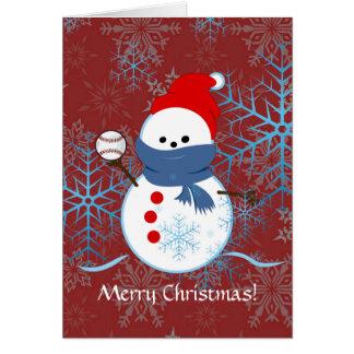 Card - Snowman Baseball
