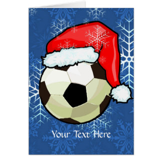 Card - Soccer Ball Christmas