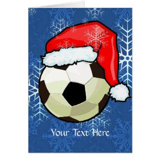 Card - Soccer Ball Christmas