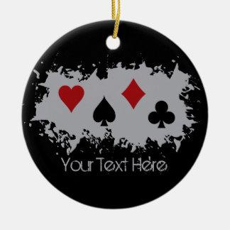 Card Splash custom ornament
