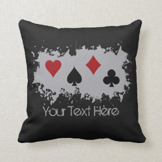 Card Splash custom throw pillow