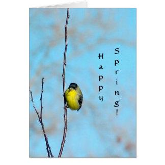Card - Spring Finch
