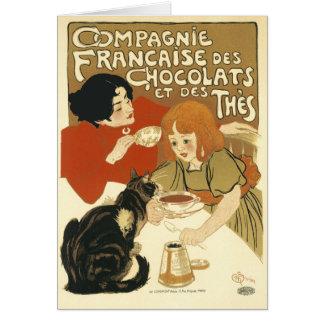 Card:  Steinlen - Compagnie Francaise des Chocolat Greeting Card