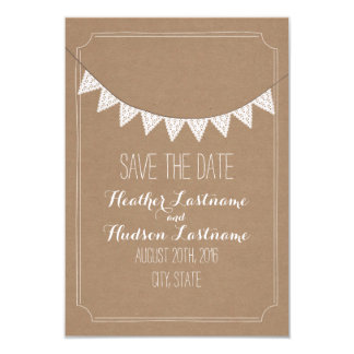 Card Stock Inspired Eyelet Bunting Save The Date