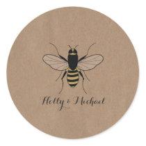 Card Stock Inspired Honey Bee Wedding Sticker