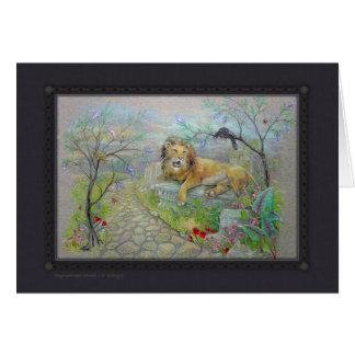 Card - Storybook Lion