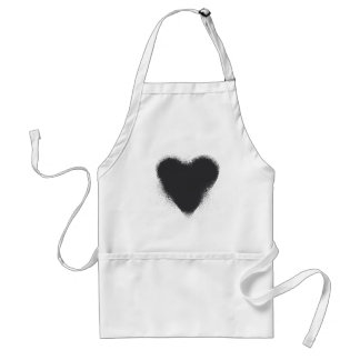 Card suit Hearts - grunge Adult Apron