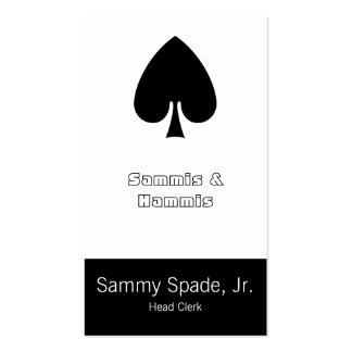 Card Suit Spades Business Card