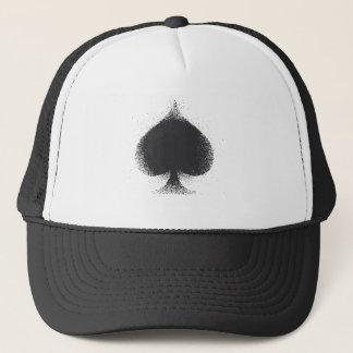 Card suit Spades -  grunge Trucker Hat