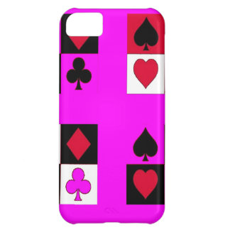 Card.Suites on Fushia by Sharles iPhone 5C Covers