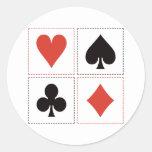 Card Suits 03 Round Sticker