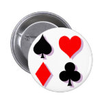 Card Suits 2 Inch Round Button