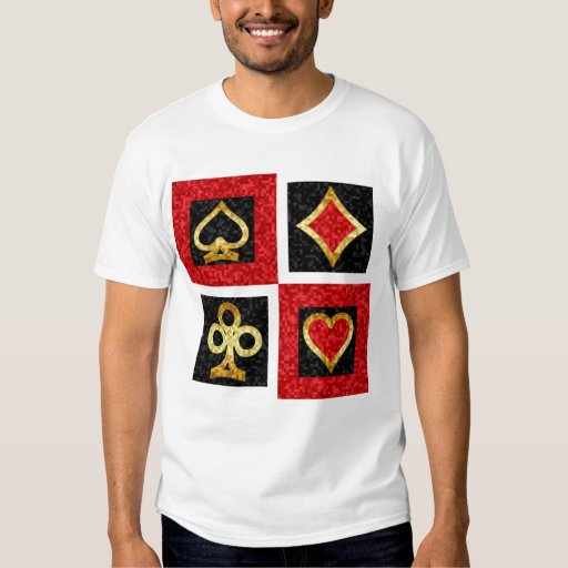 CARD SUITS ABSTRACT TSHIRTS