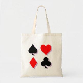 Card Suits Canvas Bags