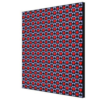 Card Suits..Change the blue to your color. Gallery Wrap Canvas