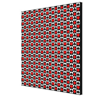 Card Suits..Change the white to your color. Gallery Wrapped Canvas