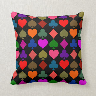 Card Suits Pattern, Bright Pillow