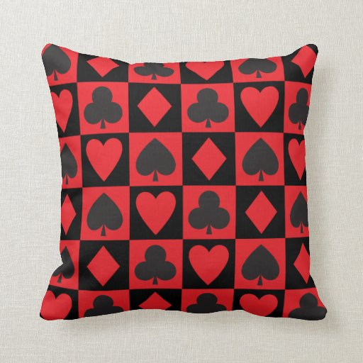 Card Suits Pattern Pillow