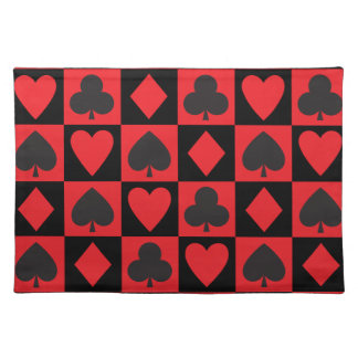 Card Suits Pattern Placemat