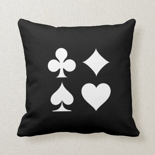 Card Suits Pictogram Throw Pillow