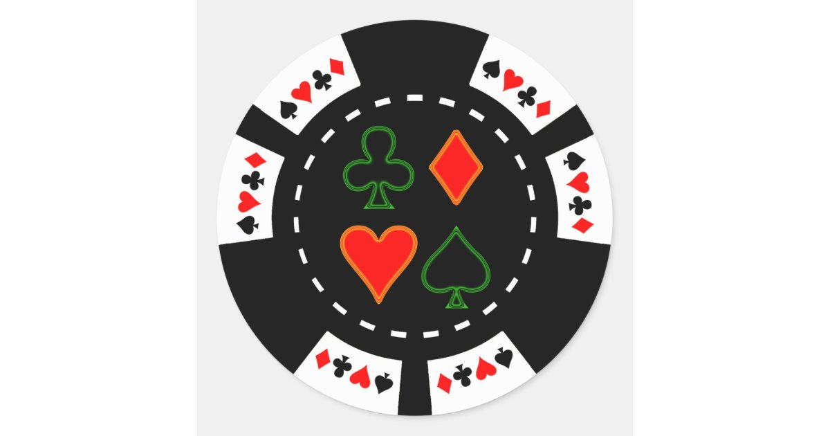 Suits poker chips
