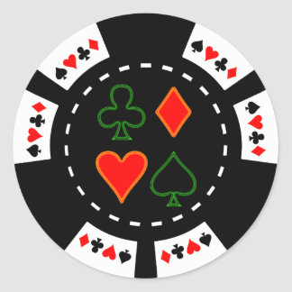 CARD SUITS POKER CHIP STICKER