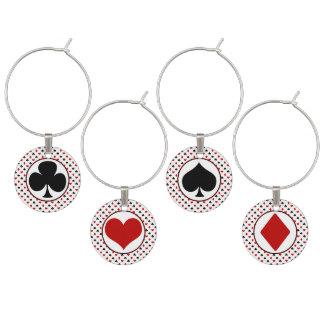Card Suits | Poker Theme Wine Glass Charm