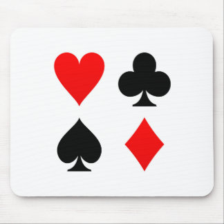 Card Suits Red and Black Mouse Pad
