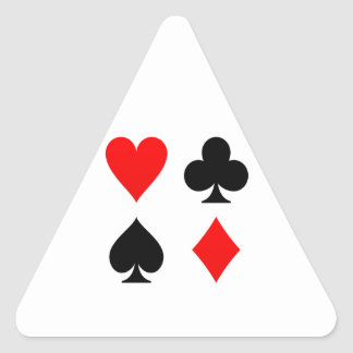 Card Suits Red and Black Triangle Sticker