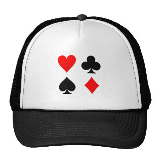 Card Suits Red and Black Trucker Hat