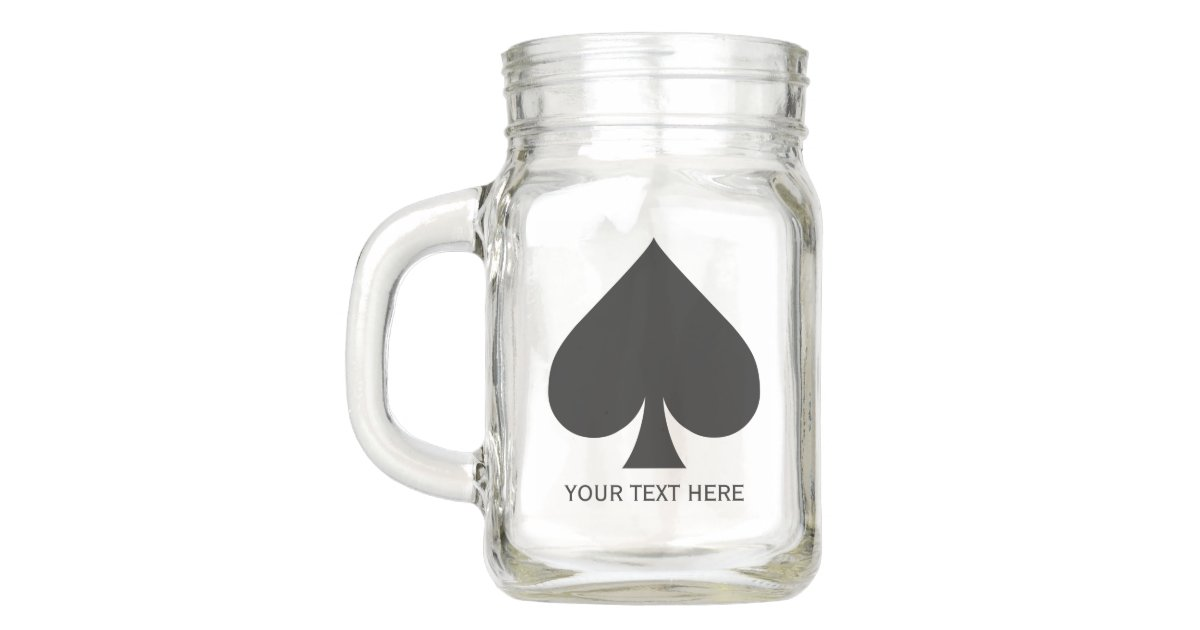 card suits spade custom mason jars zazzle com