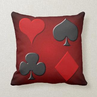 Card Suits Throw Pillow
