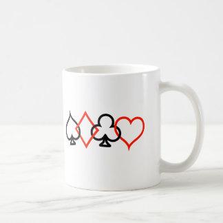 Card Symbols Intertwined Classic White Coffee Mug